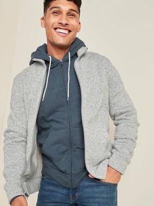 Old Navy Sweater-Fleece Zip-Front Mock-Neck Sweatshirt for Men