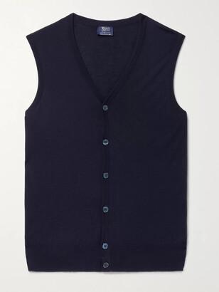 William Lockie - Cashmere Sweater Vest - Men - Blue