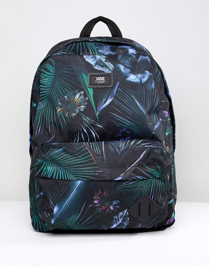 Vans Old Skool Ii Printed Backpack In Black V00onipi3