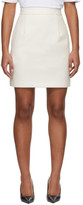 MSGM Off-White Crystal Detailing Skirt