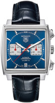 TAG Heuer Men's Swiss Automatic Chronograph Monaco Blue Croc Embossed Leather Strap Watch 39mm CAW2111.FC6183