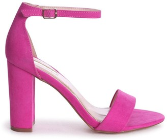 Linzi NELLY - Hot Pink Suede Suede Single Sole Block Heel