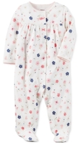 Carter's Floral-Print Footed Cotton Coverall, Baby Girls (0-24 months)