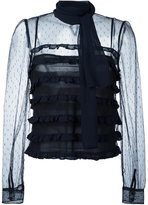 RED Valentino sheer tulle blouse