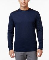 Tasso Elba Men's Big and Tall Faux Suede Shoulder Patch Sweater, Created for Macy's
