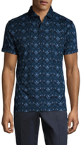 J. Lindeberg Egon Slim Printed Lux Jersey Polo