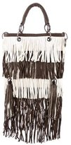 Thomas Wylde Bicolor Fringed Bag