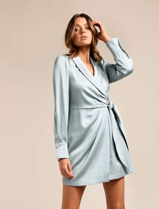 Ever New Adella Satin Drape Mini Dress