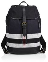 Burberry Canvas & Leather Check Backpack