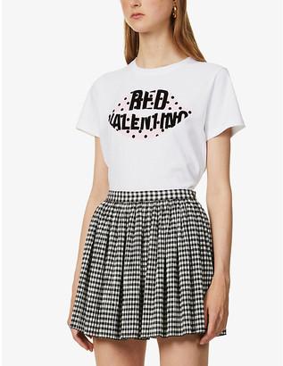 RED Valentino Lip-print cotton-jersey T-shirt