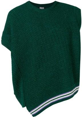 Lanvin asymmetric gilet jumper