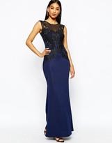 Lipsy Lace Applique Top Maxi Dress