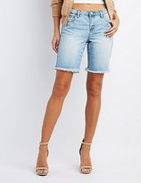 Charlotte Russe Refuge Bermuda Cut-Off Denim Shorts