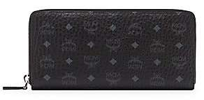 MCM Women's Large Visetos Original Leather Zip-Around Wallet