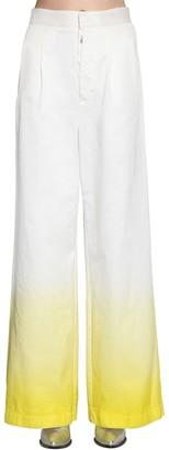 Unravel Degrade Cotton Denim Wide Leg Jeans