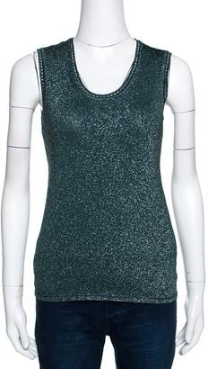 M Missoni Sacramento Green Lurex Knit Sleeveless Top M