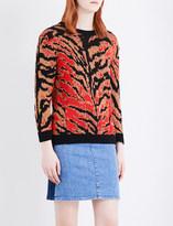Claudie Pierlot Tiger-pattern jumper