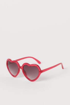 H&M Heart-shaped Sunglasses - Red