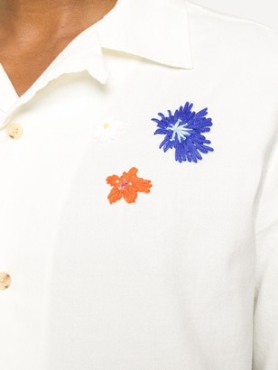 McQ embroidered Hawaiian shirt
