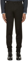 Wooyoungmi Black Cuffed Trousers