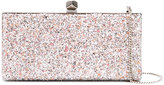 Jimmy Choo Celeste glitter clutch - women - Silk/Metallic Fibre - One Size