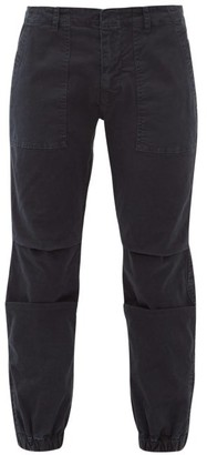 Nili Lotan Military Cropped Stretch Cotton Twill Trousers - Womens - Navy