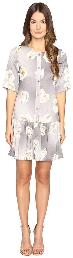 Moschino Silk Floral Button Up Dress Women's Dress