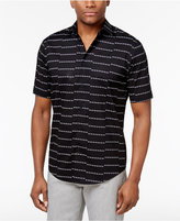 Alfani Men's Big and Tall Striped Cotton Shirt, Created for Macy's