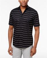 Alfani Men's Big & Tall Striped Cotton Shirt, Created for Macy's