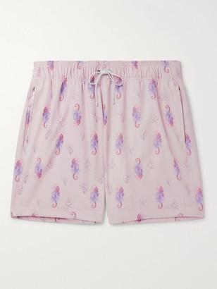 Amiri Mid-Length Printed Swim Shorts - Men - Pink