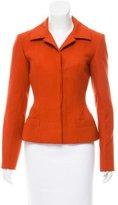Carolina Herrera Fitted Button-Up Jacket
