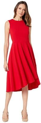 Calvin Klein Sleeveless A-Line Dress (Red) Women's Dress