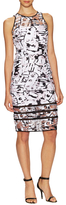 Milly Surrealist Cotton Fil Coupe Sheath Dress