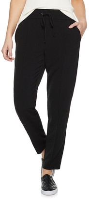 Nine West Women's Tie Front Tapered Soft Pants