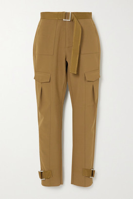 HOLZWEILER Skunk Belted Woven Cargo Pants - Green