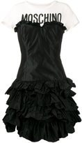 Moschino ruffled tiered T-shirt dress