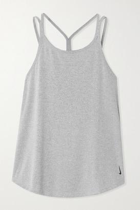 Nike Yoga Strappy Striped Dri-fit Tank - Black