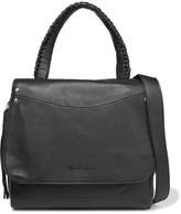 Elizabeth and James Textured-leather Shoulder Bag - Black