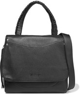 Elizabeth and James Textured-leather Shoulder Bag
