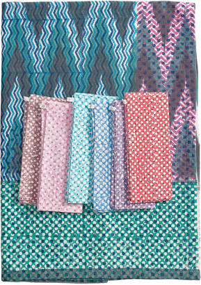 Gregory Parkinson Tablecloth And A Set Of 6 Napkins