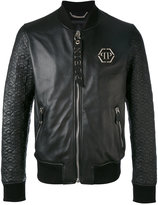 Philipp Plein quilted bomber jacket - men - Sheep Skin/Shearling/Viscose - M
