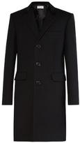 Saint Laurent Velvet-collar Three-button Coat