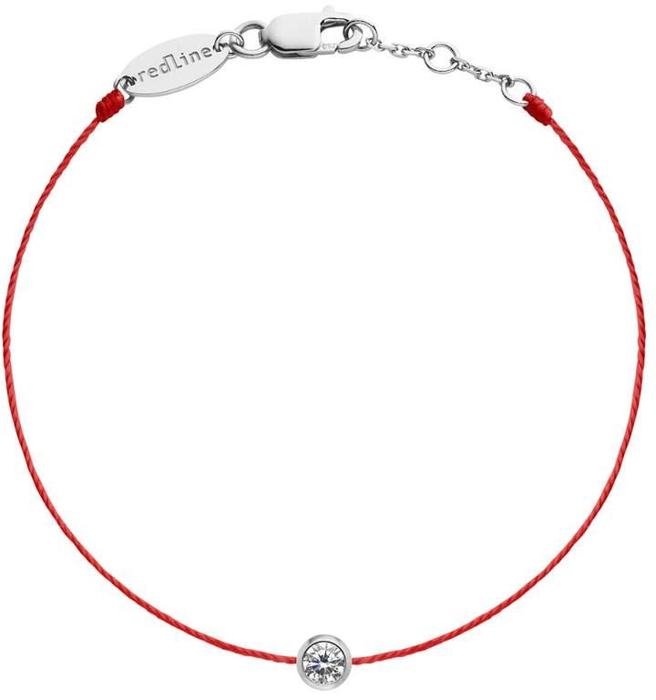 Redline Pure String Diamond Bracelet - Red and White Gold