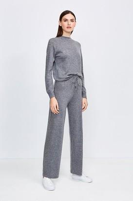 Karen Millen Embellished Soft Touch Knitted Jogger