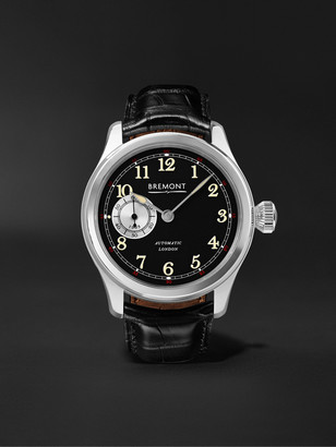 Bremont Wright Flyer Limited Edition Automatic 43mm Stainless Steel And Leather Watch, Ref. No. Wf-Ss