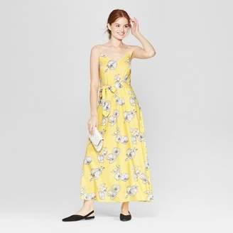 A New Day Women's Floral Print Sleeveless Maxi Dress - A New Day Yellow