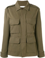Ava Adore - fringed back military jacket - women - Cotton/Leather/Spandex/Elastane - 40