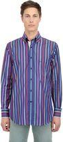 Paul & Shark Striped Cotton Poplin Button Down Shirt