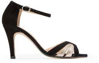 Jonak Donit Leather Sandals with Stiletto Heels