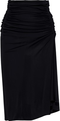 Emilio Pucci Draped Ruched Jersey Skirt